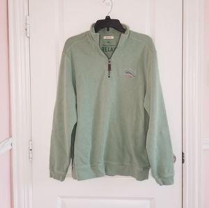 Tommy Bahama Quarter Zip Men's Sweater Green